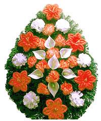 coroane funerare artificiale din flori artificiale