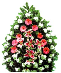 coroane funerare din crini si crizanteme