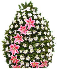 coroane funerare din crizanteme si crini imperiali