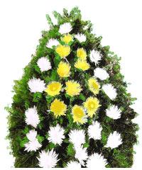 coroane funerare din crizanteme