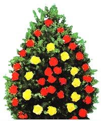 coroane funerare din garoafe si trandafiri