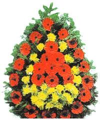 coroane funerare din gerbera si crizanteme