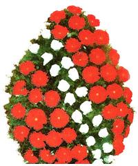 coroane funerare din gerbera si trandafiri