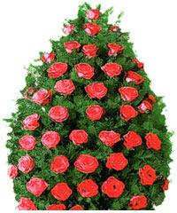 coroane funerare din trandafiri
