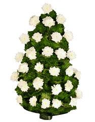 jerbe funerare din crizanteme
